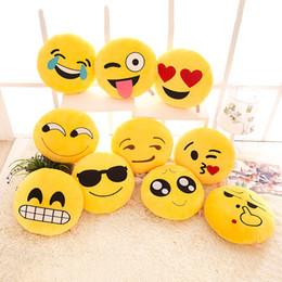 Wholesale Round Chair Cushions - Cute Emoji Pillow Smiley Face Pillow Chair Cushion Decorative Pillows Soft Emotion Cushion for Sofa Coussin Home Textile F613
