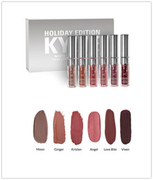 Wholesale Cheap Matte Makeup - Cheap Kylie Holiday Edition Kit 4pcs Matte Liquid Lipstick Lip Gloss Lipsticks Makeup Matte Lipstick Collection Set for Christmas Gift