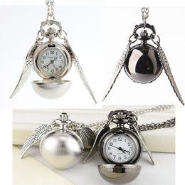 2019 антикварные мужские часы Старинные Гарри Поттер большие крылья карманные часы ожерелье цепь часы античный брелок часы цепи кулон Мужчины Женщины Гарри вентиляторы подарок 0137 скидка антикварные мужские часы