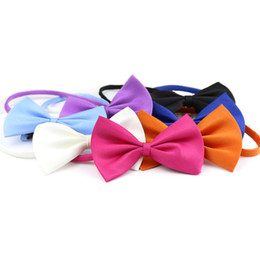 Wholesale Cute Scarf Ties - Pet Dog Collar Scarf Bow Tie For Cat Puppy Teddy Dog Cat Collar Cute Bow Tie Necktie Bells for Dogs Pet Products Pet Grooming