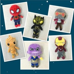 Wholesale action figure design - 20CM Avengers 3 Infinity Black Panther Action Figure Toy Plush Stuffed Dolls Kids Children Gifts 8 design KKA5071