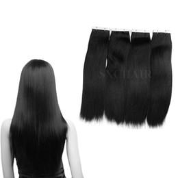 Dhgate cabelo remy on-line-DHgate Best Selling remy extensões de cabelo humano 20 pcs PU fita de trama da pele em extensões de cabelo Sliky Em Linha Reta frete grátis Cor Loira