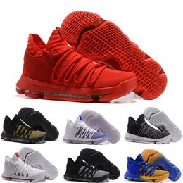 Wholesale Kd Zoom Basketball - 2018 retro Air Zoom KD 9 IX Mens Basketball Shoes Oreo Grey Wolf Kevin Durant 9s Men's Training Sports Sneakers Warriors Home Outdoor Shoes