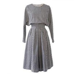 0780e50c35 Mujeres   niñas mujer primavera modelos Colegio viento retro suelta manga  larga otoño vestido 2018 dress models for girls deals
