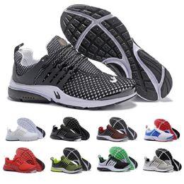 Wholesale Fabric Designs - Air Presto Running Shoes 2017 Wholesale New Design Sport Running Shoes Boost White Black Red Blue top quality Air Presto Ultra sneaker