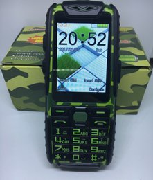Wholesale Dual Os Phone - A6 2000mAh Big Battery Power Bank Function Waterproof Rugged Outdoor Mobile Phone 2.4 Inch Dual Sim Card Torch