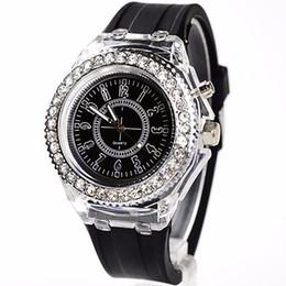 Wholesale Geneva Led - Unisex Geneva Sports Waterproof LED Backlight Silicone Band Quartz Wrist Watch