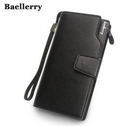 Wholesale Leather Clutch Bags Men - Baellerry Wallet Men Top Quality Leather Wallet Purse Fashion Casual Male Clutch Zipper Bag Brand Wallets Men Multifunction !