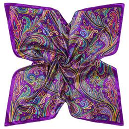 Wholesale silk bohemia - New Arrival Women Designer Scarf Bohemia Printing Silk Scarves 3 Color Sun Shading Windproof Simple Practical Big Square Scarfs 7pr aa