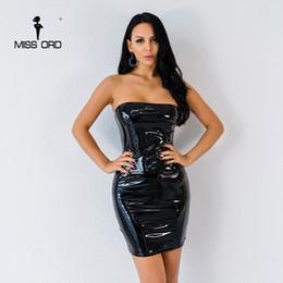 2019 vestidos de sotaque vermelho SENHORITA ORD 2018 Sexy Barra Pescoço Fora Do Ombro Latex Cor Sólida Pacote Hip Vestido de Festa FT8785-1