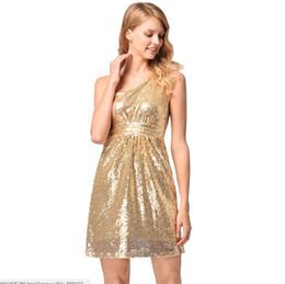 4fb0cb826c golden night dress 2019 - Women Party Dresses Sexy One Shoulder High Waist  Dress Sparkle Golden