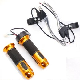 Wholesale Electric Scooters Brakes - A Pair Universal Electric Scooter Bike Throttle Grips Set + Brake Switch Levers E-bike