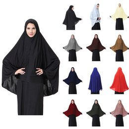 741d327d0b Chinese Muslim Black Face Cover Niqab Burqa Bonnet Islamic Khimar Long Hijab  Loop Scarf Jilbab Prayer