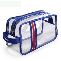 Wholesale Up Environmental - Environmental Protection PVC Transparent Cosmetic Bag Women Travel Make up Toiletry Bags High Quality Handbag Organizer Case