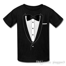 Canada Faux smoking cravate noire Tee shirt Enfant Tops Classiques Tee Shirts Différentes Couleurs Haute Qualité O Cou Tees Mâle Prix Bas Steampunk Offre