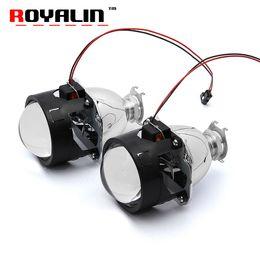 Wholesale bi xenon h4 projectors - ROYALIN Bi Xenon HID H1 Mini Projector Lens 2.5'' Auto Headlight Halogen Lens Hi Lo Beam for H4 H7 Car Styling Bulb Retrofit DIY