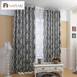 tissu de rideau noir blanc Promotion Rideau fenêtre salon tissus jacquard rideaux semi-occultants de luxe panneau salon rideaux court rideau blanc noir
