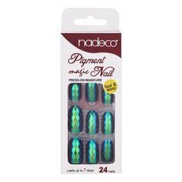 2019 niedliche nägel diamanten 24 Stücke Fischschuppen Falsche Nägel Tipps Spiegel Chrom Pigment Wirkung UV Gel Gefälschte Nagelkunstwerkzeuge