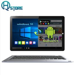 Wholesale Nvidia China - CHUWI 10.8 Inch CHUWI Hi10 Tablet PC Windows 10 Android 5.1 Intel Atom Z8350 Quad Core 4GB RAM 64GB ROM