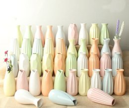 2019 vasi di testa all'ingrosso Ornamenti decorativi vaso di ceramica casa aromaterapia bottiglia semplice simulazione fiore secco idroponica pianta verde piccolo vaso