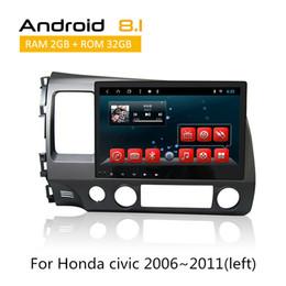 2019 reproductor de mp3 hyundai tucson Unidad doble Din Head para Honda Civic 2006 2007 2008 2009 2010 2011 con reproductor de DVD para automóvil con cámara trasera AUX Bluetooth