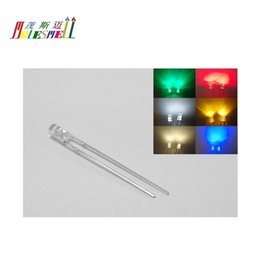 50X 3mm Flat top Warm White LED Wide Angle Flat Head Light lamp Free Shipping