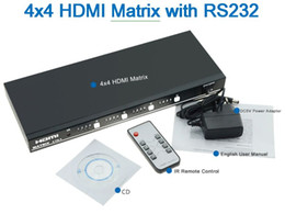 Wholesale Matrix Splitter - 4x4 HDMItrue Matrix4inputand4output with RS232 3DHDMISwitch splitterwith IRRemoteControl FullHD1080P