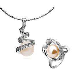 Top qualité plaqué platine collier de perles bague mode bijoux ensemble de femmes livraison gratuite 5set / lot ? partir de fabricateur