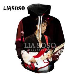 2019 príncipe impresiones LIASOSO Nueva America Pop Singer Prince Rogers  Nelson 3D Imprimir Mujeres Hombres Sudaderas 31fc43c0867a