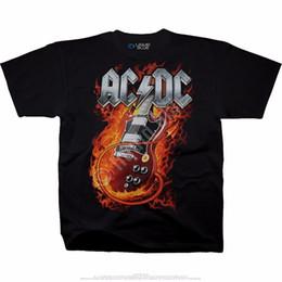 Vestiti liquidi online-Divertente Abbigliamento Casual Magliette Girocollo Comfort morbido Liquid Blue Thunderstruck AC / DC T-Shirt da uomo nero manica corta da uomo
