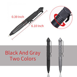 Wholesale wholesale aviation - 3PCS Aircraft Aluminum Defender Tactical Pen for Self-defense Glass Breaker Multifunctional Survial Tool with Aviation aluminum