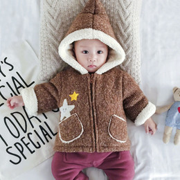 518aff5261166 baby toddler kids infant newborn knitted coat warm thicken parka hooded fur  inside winter outerwear jacket 0-3 6 9 12 months