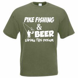 2019 doni divertenti di pesca T-Shirt da pesca - PIKE FISHING BIRRA - Pescatore / Angler / Tee Divertente da uomo Divertente spedizione gratuita Unisex Casual tee regalo doni divertenti di pesca economici