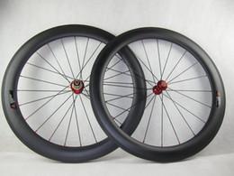 rueda de carretera Rebajas envío gratis ruedas de carbono 700C 50mm remache fastace DA209 ruedas de carretera bike raod wheelset carbono ruedas de bicicleta 3 k mate