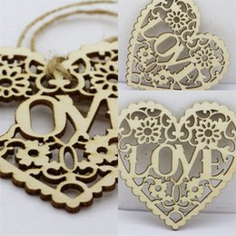 d chip Promo Codes - DIY Hollowed Wood Chips Love Painted Pieces Bookmark For Wedding Favors Party Decoration Valentine Day Gift 6jm D D
