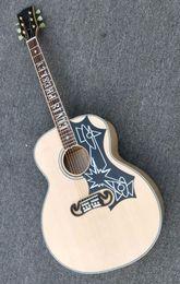 Spedizione gratuita! Nuova chitarra elettrica Custom SJ200 43 # per chitarra acustica in acero massiccio di alta qualità 171210 da