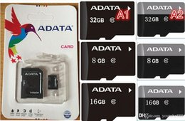 Wholesale Real Micro Sd Card 8gb - FREE DHL ADATA 2018 50PCS LOT 100% REAL 8GB 16GB 32GB 64GB 128GB Micro SD SDHC SDXC MicroSDXC TF ULTRA 48MB s