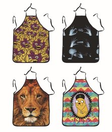 Wholesale apron women - Household Baking Pinafore Personality Men And Women 3D Animal Printing Apron Home Kitchen Accessory Many Styles 11wta C R