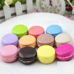 Wholesale Artificial Cake Decoration - 4cm Simulation Macaron PU Artificial Cake For Window Display Wedding Party Decoration Kids Decompression Funny Toys