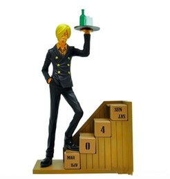 Wholesale Sanji Action Figure - Suzannetoyland Wholesale PVC 19cm One Piece Two Years Later Sanji Sunkist Cartoon Toys Action Figure Baby Gift Toy