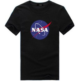 Wholesale New Shirt Style For Mens - Top Quality Nasa Fashion T Shirt New Summer Style Printed Cotton Men T-shirt Space Clothing Tops Tees Mens T Shirts For