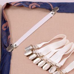 Clip metalliche online-4pc / Set Forte foglio elastico Lenzuolo Metallo Lenzuolo Clips Fasteners Clip Grippers Materasso