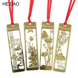 Wholesale beautiful items - Cute Kawaii Beautiful Metal Bookmarks Chinese Vintage Retro Bookmark for Book Creative Item Gift Package Free shipping