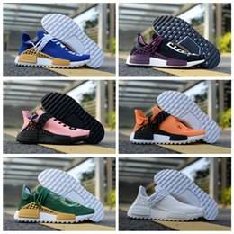 95ec1c09f 2018 new Human Race Pharrell Williams x Trail Camo Green Equality Black  Purple CREAM Running Shoes Men Women PW HU Sports Sneakers 36-45