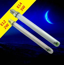 Remplacement des ampoules fluorescentes en Ligne-E14 E12 F2 3watt Ultra Violet BL Ampoule Tube Piège Remplacer Pour Insecte Zapper Attirer La Mouche Des Insectes Mosquito Killer Lampe UVA Linéaire Fluorescent 365nm