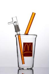 Tazze da dozzina d'olio online-Chiaro Starbucks Cup Bong Piccolo vetro Bong Oil Rig Dab Cup Bong di vetro spesso con unghie