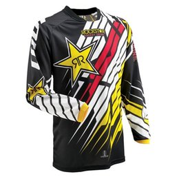 motocross new jersey Promotion 2018 nouveaux maillots Moto Rockstar Jersey Motocross Respirant Racing Descente Hors Route Mountain Moto Sweat-shirt