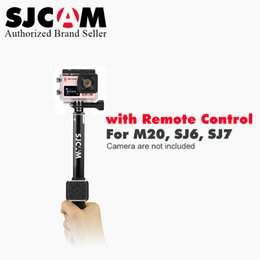 Wholesale Remote Controller Dvr - Original Portable Handheld Selfie Stick Monopod With Remote Controller For SJCAM Sj7 Star Sj6 M20 LegendSport Action Camera DVR