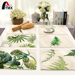 table cloths prices Promo Codes - Mix 7 Style Leaves Table Napkins Plates Printed Cloth Dinner Table Deco Accessories Wedding Party Napkins Wholesale Price