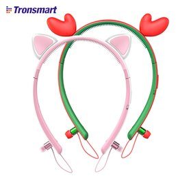 Wholesale Led Bunny Ears - Tronsmart Encore Wink Tronsmart Bunny Ear Bluetooth Earphone Bluetooth Headset Wireless Earphone with LED Light for gaming